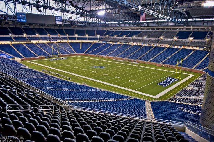the lions stadium ford field will have blue end zones this