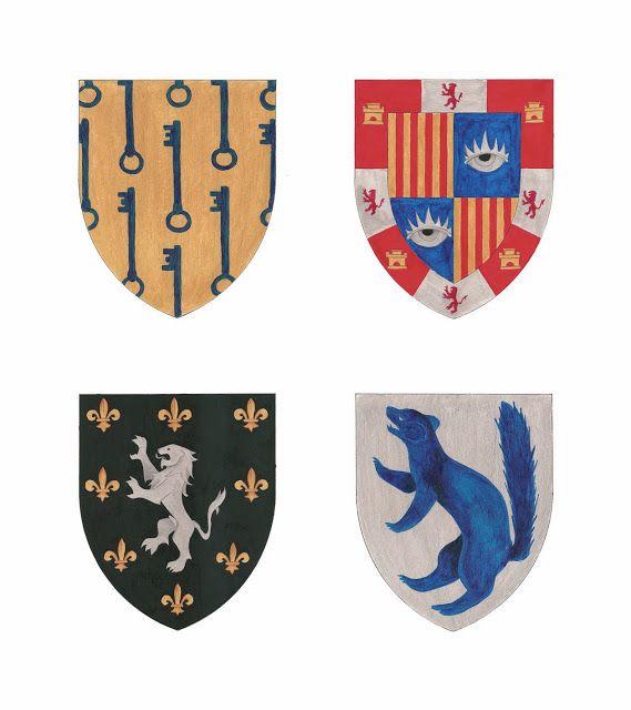 Detall de les il·lustracions del II Armorial dels nobles de les comarques meridionals del Principat de Catalunya, d'en Salvador-J. Rovira Gómez. Editat per la Diputació de Tarragona.