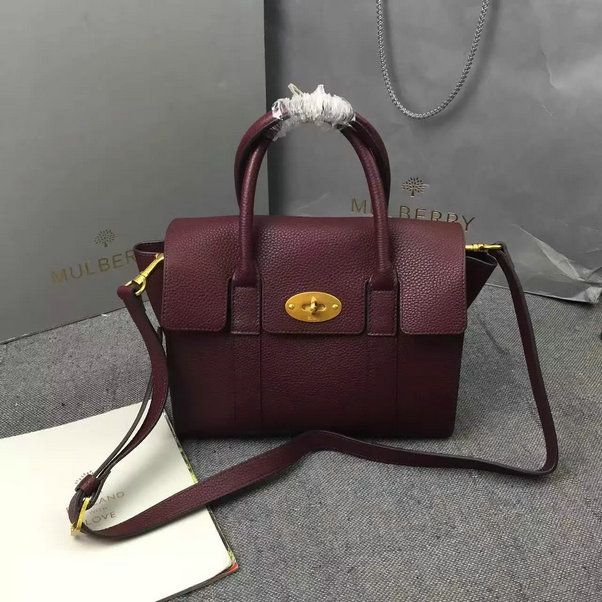 2016 F/W 2016 Mulberry Small New Bayswater Oxblood Natural Grain Leather
