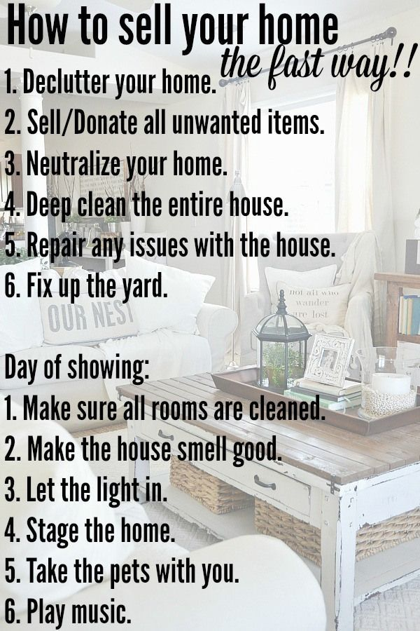 Tips and tricks on how we sold our home in one showing!! A must pin if you are selling your home now or in the future!
