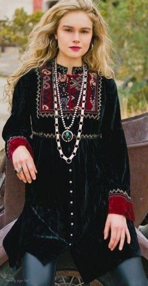 Gorgeous Boho Velvet Tunic