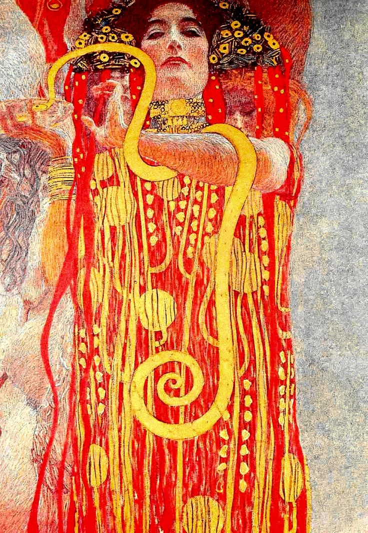 """Fin de siecle  ~ """"Hygieia - Allegorie der Medizin"""" By: Gustav Klimpt,  Austrian Symbolist Painter"""