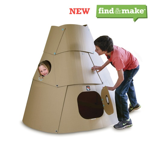 makedo, turn cardboard into play, reusable connectors, stickers and tools to make great play