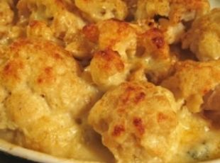 Baked Cheese Cauliflower (use the 2 cup bag of shredded, sharp cheddar ...
