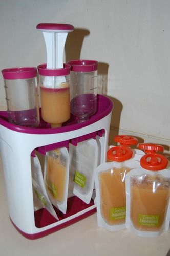 Infantino Squeeze Station:  make your own to go baby food pouches. After seeing the maggots found in store bought ones, this would be great!