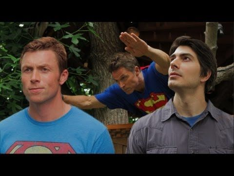 This is amazing! I think I'm in love with all of these men. THE DALY SUPERMEN w/ Brandon Routh and Dean Cain - YouTube
