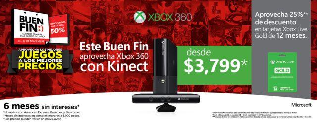 Este Buen Fin, Xbox 360 con Kinect de Microsoft desde $3799, en GamePlanet. Buen Fin, del 14 al 17 noviembre de 2014. #Promo #BuenFin