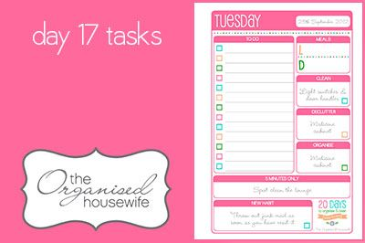{The Organised Housewife} 20 Days to Organise & Clean your home - Day 17