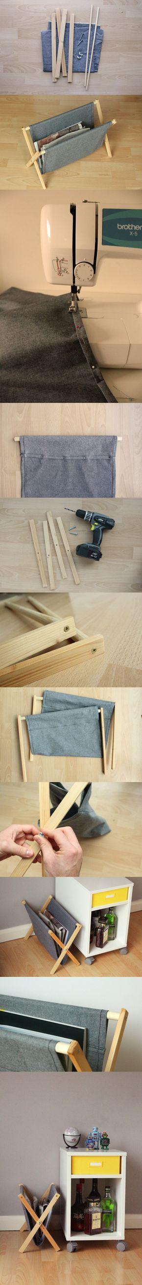 Un revistero plegable DIY - Vía http://www.manmadediy.com/