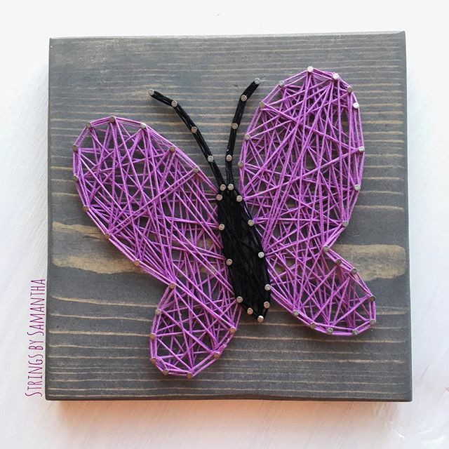 Butterfly string art by  stringsbysamantha