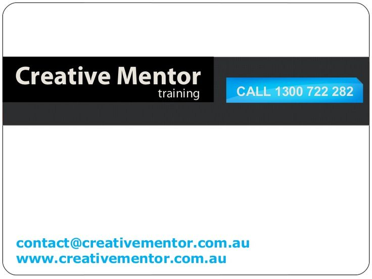 At Creative Mentor we recognise that continuous improvement is essential for progress and that keeping your employees skilled is a commitment that can be both costly and time consuming. http://www.slideshare.net/CreativeMentor/creative-mentor-corporate-training