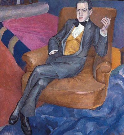 Картинки по запросу ЛЕВ БРУНИ (1894–1948) Портрет композитора Артура Лурье, 1915 г.