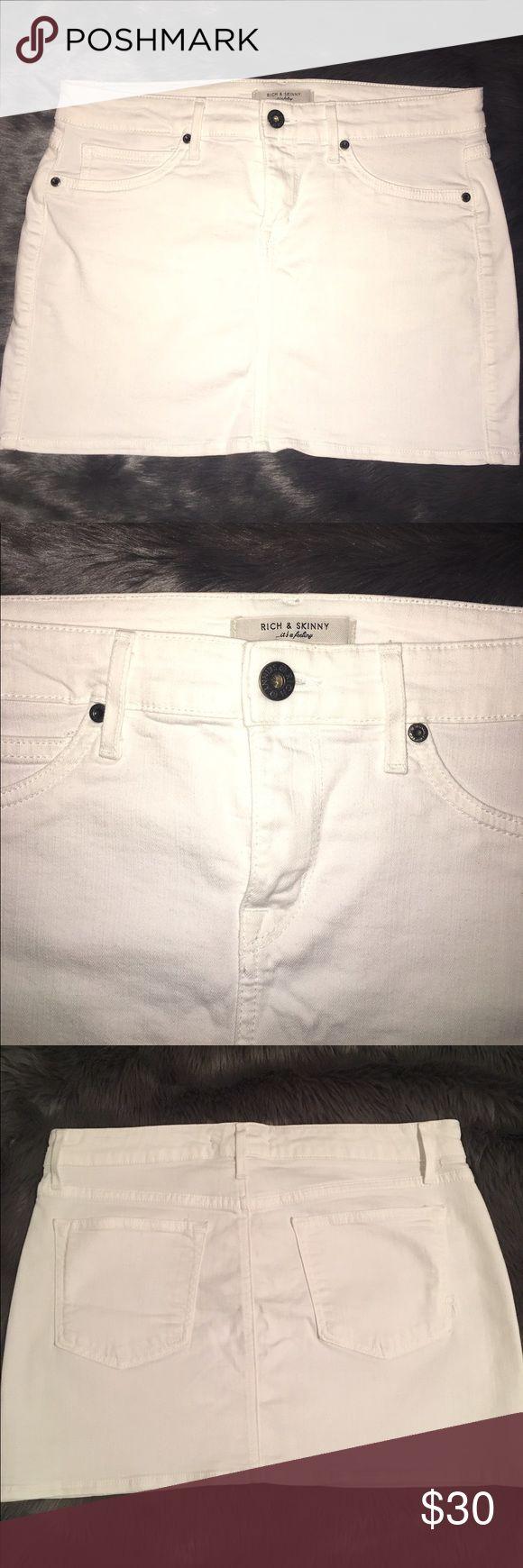 White Mini Skirt Rich & Skinny Rich and Skinny white Mini Skirt size 28 Rich & Skinny Skirts Mini