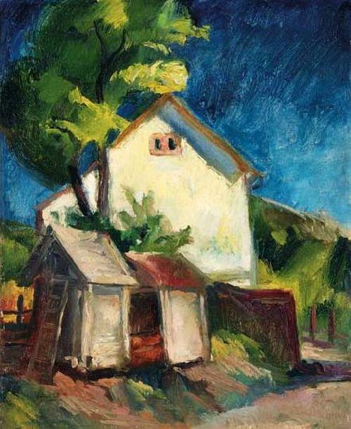 Szőnyi, István (1894-1960) -  Sunny courtyard, 1926