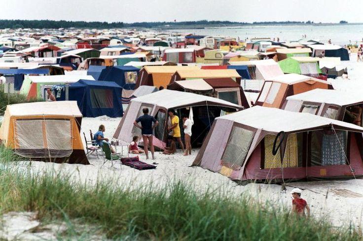 Strand in Prerow: DDR-Urlaub Anfang der 1980er-Jahre ***den Zeltplatz hatten wir nie bekommen ***
