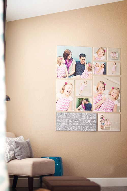 Another lovely grouping, perfect for a photos from a storytelling shoot! I also love the accent canvas with their addresses!