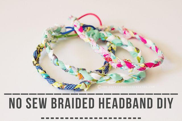 no sew braided headbands diy by ohsohappytogether, via Flickr