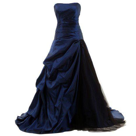 Amazon.com: Dresstells Strapless Floor-length Satin Evening Gown Formal Wedding …