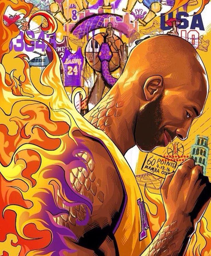 The 'Black Mamba' - Kobe Bryant (Basketball Drawings)