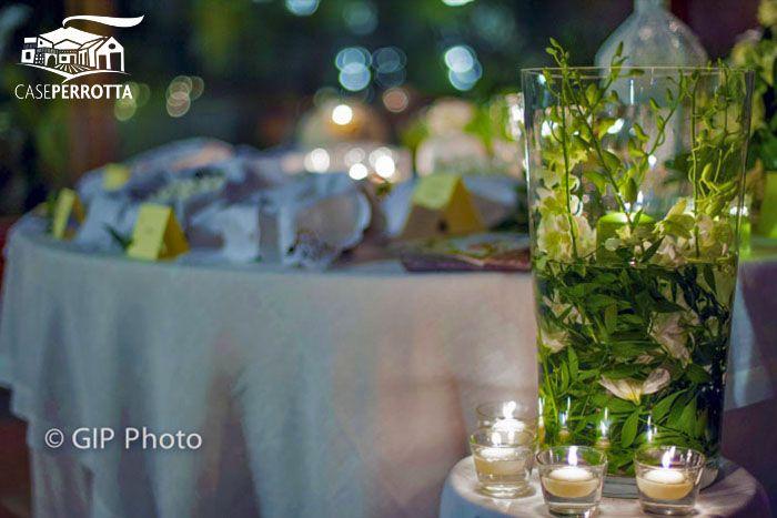 Candele verdi e bianche per confettata