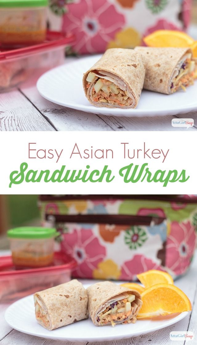 Easy Asian Turkey Sandwich Wraps