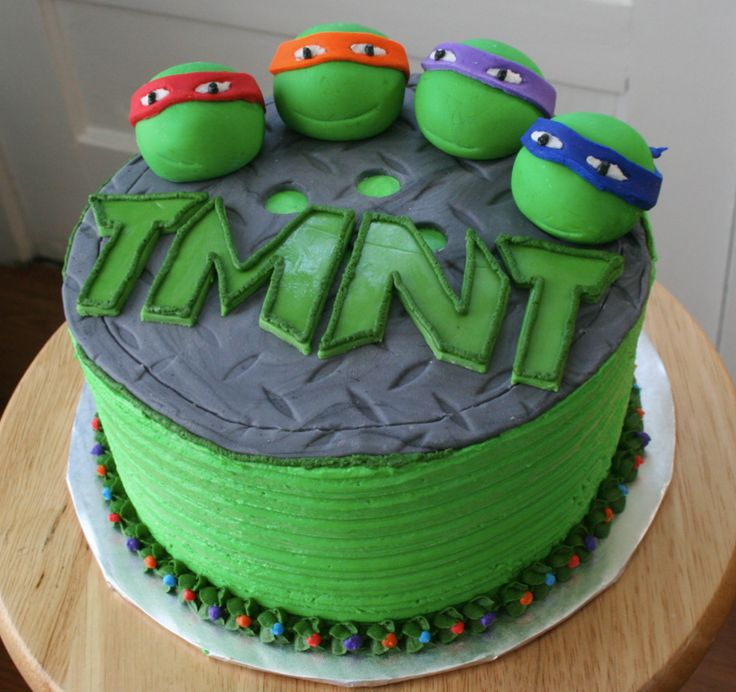 Age Mutant Ninja Turtles Cake Had To Post This One For My Son He Loved The Ninja Turtles Make Pink Instead Of Green For Super Hero Theme