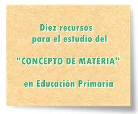 """Diez recursos para el estudio del """"CONCEPTO DE MATERIA"""" en Educación Primaria"""