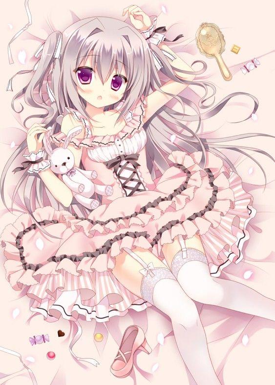 壁纸 Q版 二次元 卖萌 插画 动漫 #pretty #lolita #anime #bunny #girl #art #illustration #happy #fun