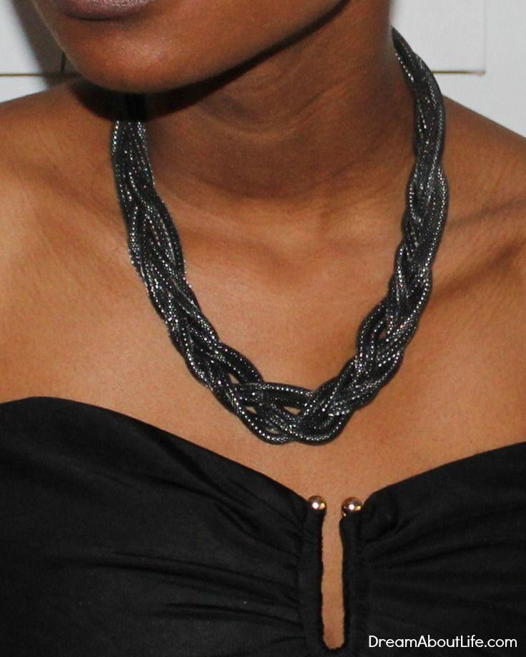 Ebony Necklace - Breaded Collar Necklace