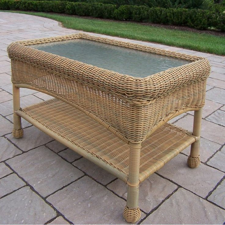Outdoor Oakland Living All Weather Wicker Coffee Table   90027 CT