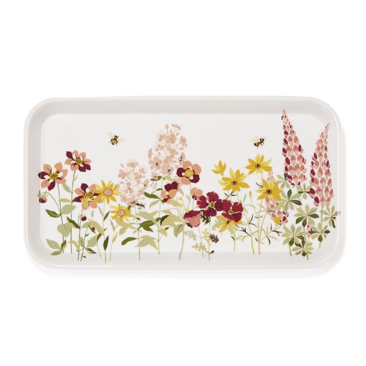 Laura Ashley Wild Meadow Floral Small Melamine Tea Tray #TimelessCountry #interiors