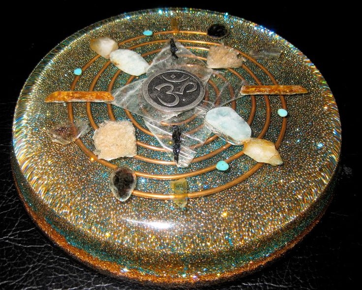 Orgonite Water Structuring Plate by Orgonite World -- incredible altar piece