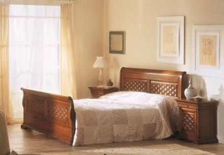 Bakokko classic bed with headboard in capitonnè