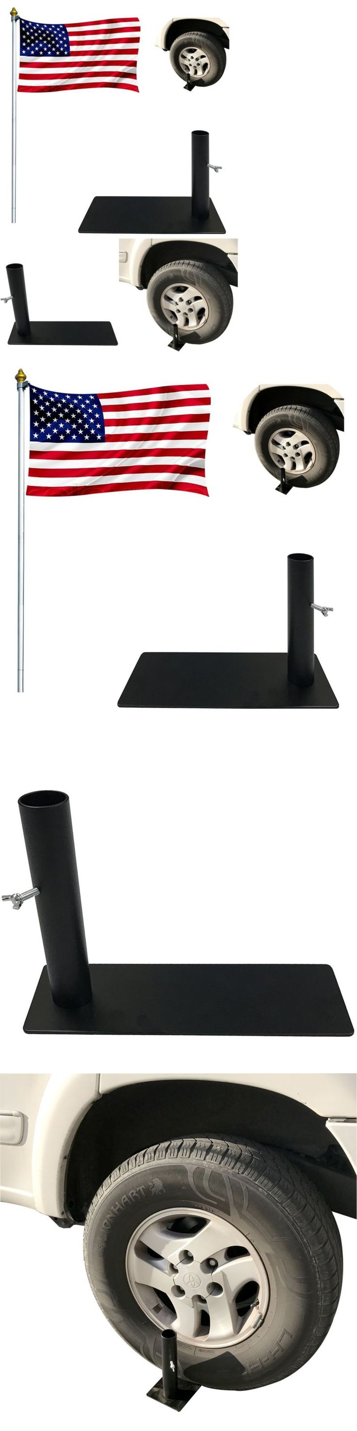 Flag Poles and Parts 43536: Tire Mount Flag Pole Holder Tailgate Bracket Works With Cars, Trucks And Rv S -> BUY IT NOW ONLY: $31.2 on eBay!