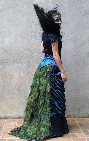 steampunk wedding dress peacock