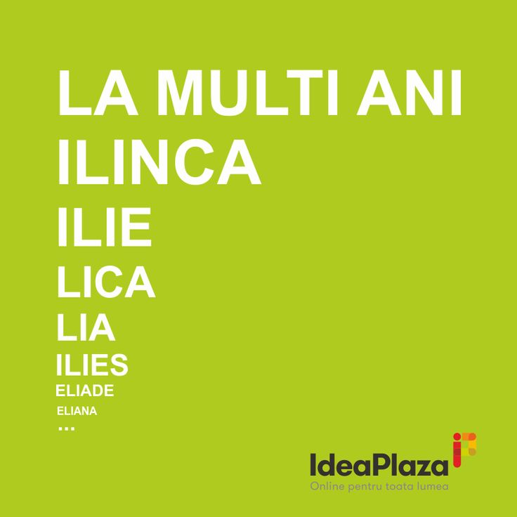 La multi ani de Sfantul Ilie!  #Ilie, #Ilinca, #Lica, #Lia, #Ilies, #Eliade, #Eliana etc.