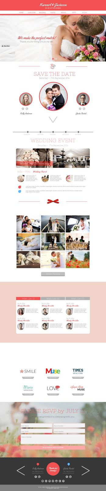 #Wedding is an beautiful Just #Married #Muse #Template. It's even more beautiful on retina displays. #With an elegant design and rich features th...
