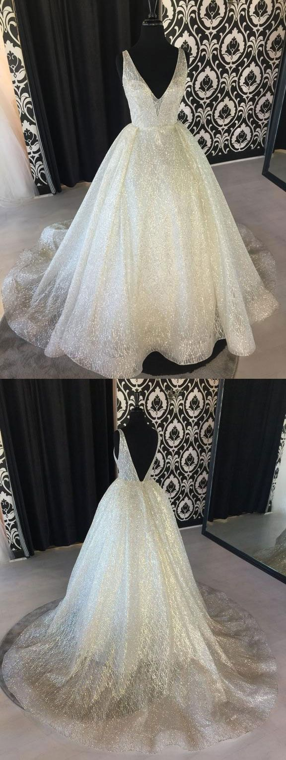 sparkly wedding dresses, bridal gowns ivory