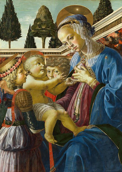 The Virgin And Child With Two Angels Andrea del Verrocchio