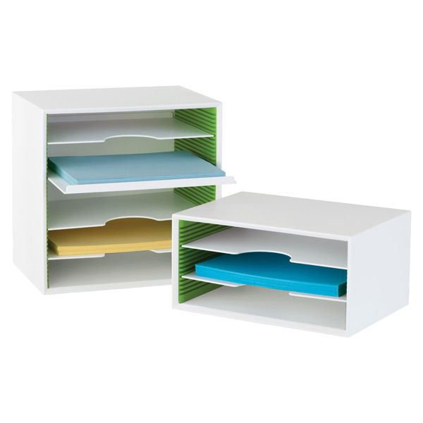 Adjustable Paper Sorters --for construction paper, to go in area next to dining table.