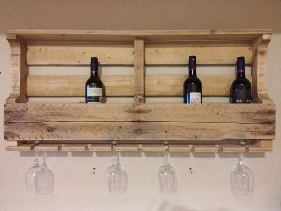 Housewarming Gift, Pallet Wine Rack, Wine Rack, Unique Wine Rack, Wedding Gift, Rustic Shelf, Wine Shelf, Wine, Wall Decor, Home Decor
