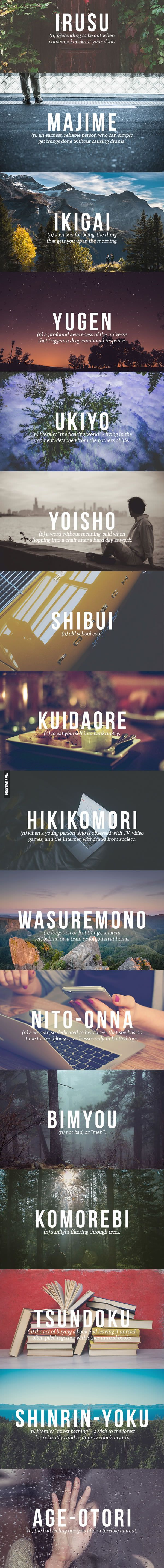 The Perfect Japanese Words You Need In Your Life | 9gag #Words #Japanese