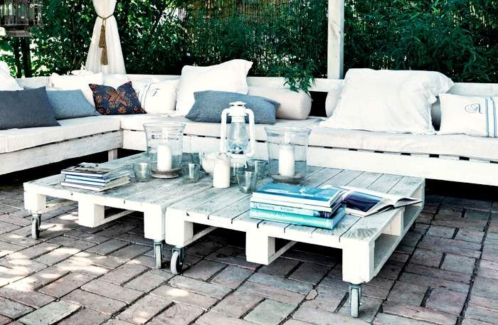 Outdoor Pallet Garden Set For Your Terrace Garden Pallet Projects & Ideas Patio & Outdoor Furniture