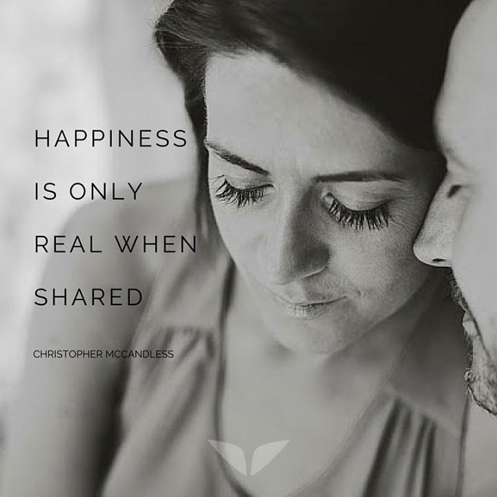 Who do you share your happiness with? <3