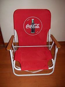 Coca Cola Folding Beach Lounge Chair w Strap Coke Collectible at Mr Niceguys