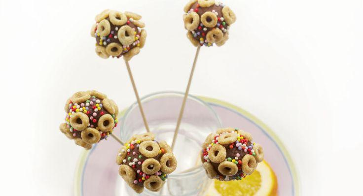 Lollipops di cioccolato e cereali