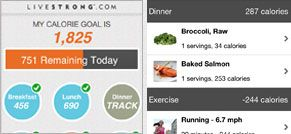 Livestrong app on your iPhone helps you track calories. I use it every day! ....almost
