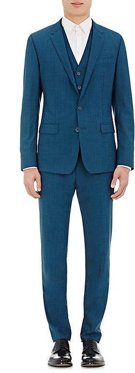 Dolce & Gabbana Men's Martini Three-Piece Suit-Blue