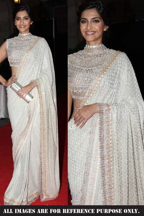 Sonam Kapoor Georgette Replica Saree