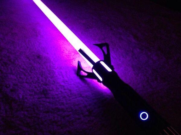 purple lightsaber cool